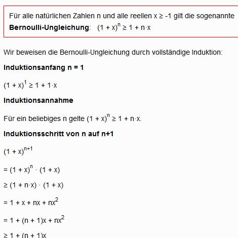 Bernoullische Ungleichung
