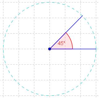 45° - Winkel im Kreis