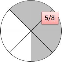 Kreis Fünf Achtel Lösung