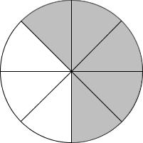 Kreis Fünf Achtel