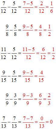 Subtrahieren Lösungen 1