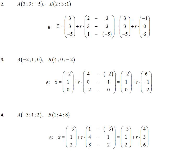 Geradengleichung bestimmen aus zwei Punkten