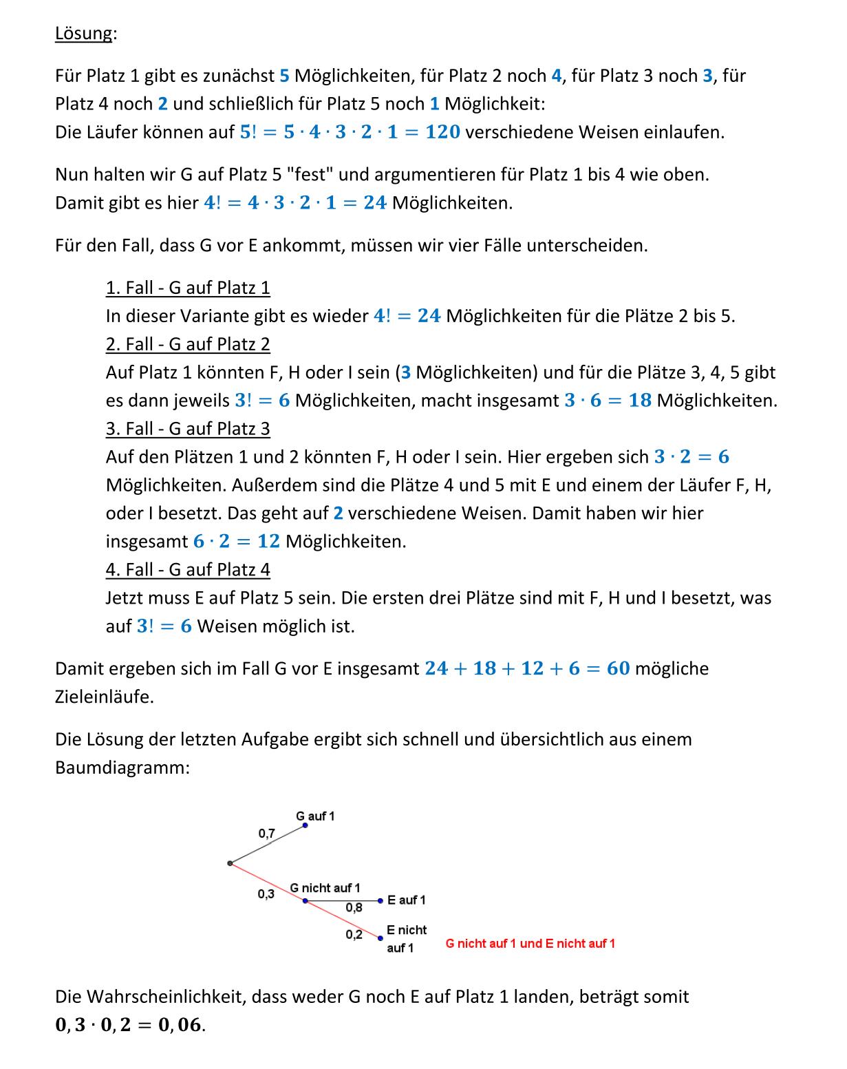 Kombinatorik und Stochastik 2